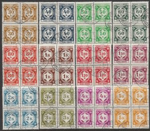 Stamp Germany Bohemia Czechoslovakia Official Dienst Mi 01-12 Block WWII Used