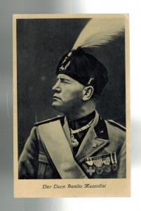 1937 Berlin Germany Benito Mussolini state visit Real Picture postcard Cover 1