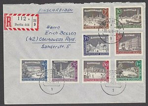 GERMANY 1963 Registered cover - nice franking...............................B323