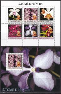 Sao Tome and Principe, Flowers, Orchids, Merilyn Monroe MNH / 2003