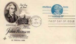 United States, Government Postal Card, First Day Cover