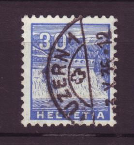J18522 JLstamps 1934 switzerland used #225 waterfalls