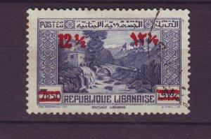 J23997 JLstamps 1939 lebanon used #151 ovpt