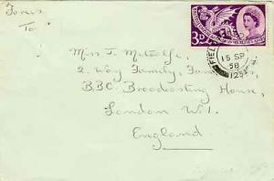 Cyprus Great Britain 3d QEII Commonwealth Games 1958 Field Post Office 123 Ak...