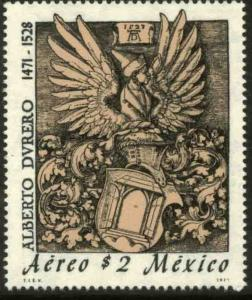 MEXICO C393, 500th Anniv of the birth of Albrecht Durer ENGRAVER. MINT, NH. F-VF