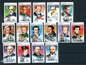 British Antarctic Territory (BAT) 1973 SG 44 - 58 ** MNH QEII (003223)