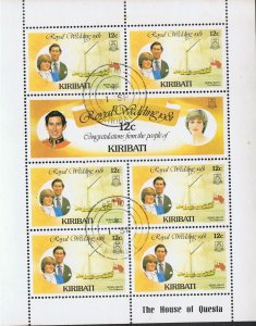 KIRIBATI 1981 ROYAL WEDDING SOUVENIR SHEETS