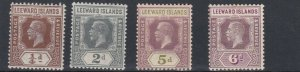 LEEWARD ISLANDS  1921 - 32  S G 58 - 72    VARIOUS VALUES TO 6D    MH