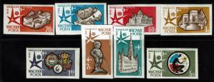 Hungary SC# C176-C183, Mint Never Hinged, Imperf, minor creasing - Lot 012917