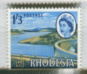 RHODESIA: 1960s early QEII issue fine Mint MNH unmounted 1s. 3d. value