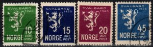 Norway #111-4 F-VF Used CV $31.00 (X2543)