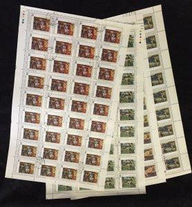 ALBANIA 1991 Renoir Art Set in Sheets Used (160 Stamps)(AL 26