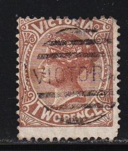 Australia - Victoria _#142 Queen Victoria  - Used