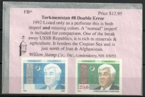 Turkmenistan  =  Lot # 5 - Nice Error Proof stamps +  / MNH