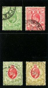 Orange Free State 1905 KEVII set complete very fine used. SG 148-151. Sc 70-73.