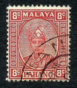 Pahang SG36 8c Scarlet fine used Cat 80 pounds
