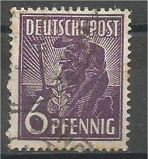 GERMANY, 1947, used 6ph, Planting Olive. Scott 558