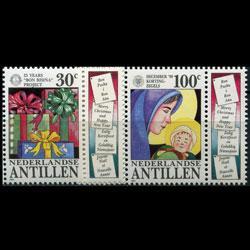 NETH.ANTILLES 1990 - Scott# 641-2 Christmas Set of 2 NH