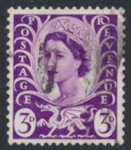 GB  Regional  Wales  SG W7 no wmk Used  1967 SC# 7  See scan