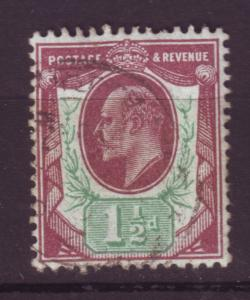 J19676 Jlstamps 1902-11 great britain used #129 king