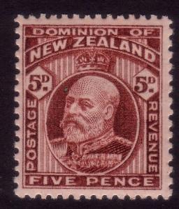 NEW ZEALAND 1909-16 EVII 5d perf 14x13½ SG402 fine mint....................43581