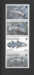 FISH - COMORO ISLANDS #833  COELACANTH  MNH
