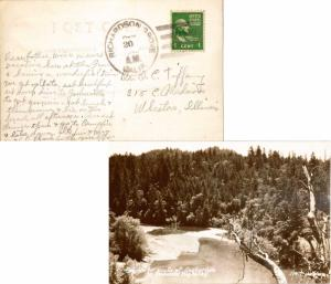 United States California Richardson Grove 1945 4f-bar  1938-1955  PPC (Real P...