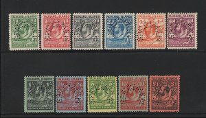 FALKLAND ISLANDS : 1929 KGV Whale & penguin set ½d-£1, SPECIMEN. MNH **. Rare.