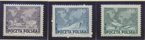 Poland Stamps Scott #457 To 459, Mint Hinged - Free U.S. Shipping, Free World...