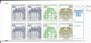 GERMANY, 1528a, Historic Sites Booklet, MNH