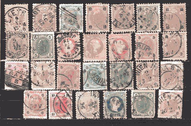 AUSTRIA. Early Collection,of 27 Stamps*. AS IS.  Used .Payment in  US Dollars.