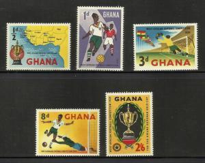 Ghana Soccer 1959 Scott# 61-65 MNH
