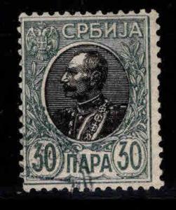 Serbia  Scott 93b Used  on laid paper