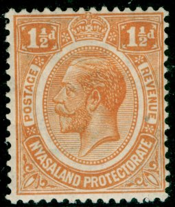 NYASALAND PROTECTORATE SG102, 1½d orange, M MINT. WMK SCRIPT
