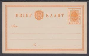 Orange Free State H&G 1 mint 1884 1p Orange Tree Postal Card, VF