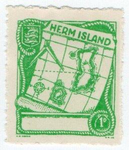 (I.B) Cinderella Collection : Herm Island 1d (Map)