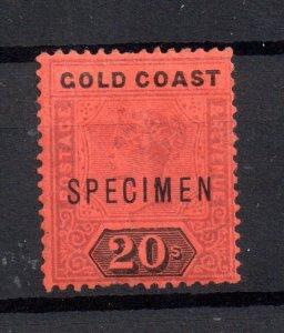 Gold Coast 1889 20/- dull mauve mint MH Specimen SG25s WS16708