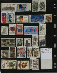 GERMANY COLLECTION 1989 YEAR SET  USED