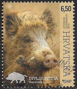 Croatia 947 Used - Woodland Animals - Wild Boar (Sus scrofa)