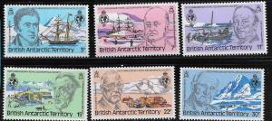 BRITISH ANTARCTIC TERRITORY, 76-81, MNH, ROYAL GEOGRAPHIC SOCIETY