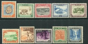 NIUE-1950 Set to 3/- Sg 113-122 UNMOUNTED MINT V34609