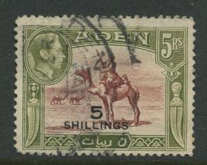 STAMP STATION PERTH Aden #45 - KGVI Definitive Overprint 1951  Used  CV$12.00.