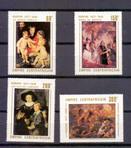 Central African Empire  #318-321  MNH 1978  Rubens paintings