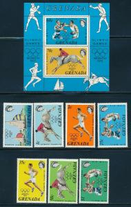 Grenada - Munich Olympic Games MNH Set (1972)