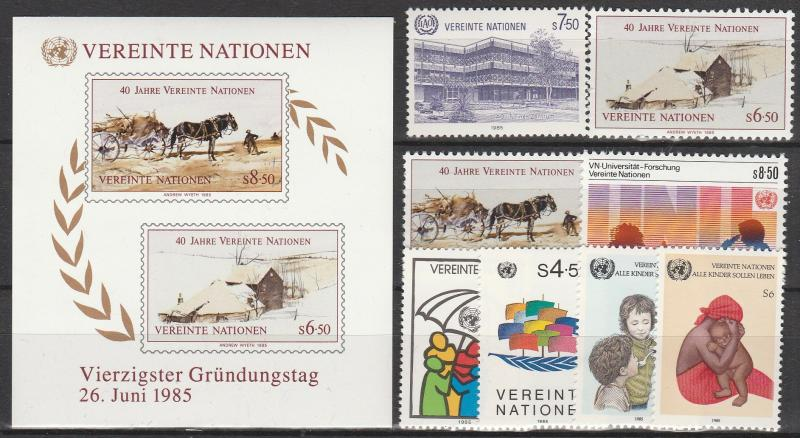 United Nations Vienna #48-56  MNH CV $10.75 (A1671)