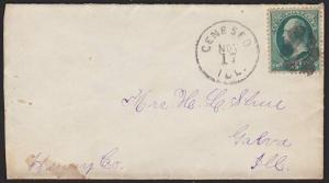 USA 3c on cover GENESEO / ILL cds and fancy cancel..........................6770