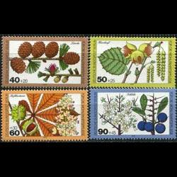 GERMANY-BERLIN 1979 - Scott# 9NB159-62 Plants Set of 4 NH