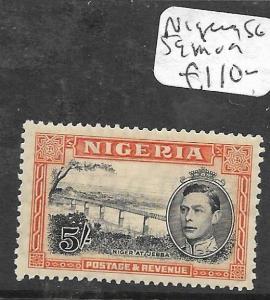 NIGERIA (PP2501B) KGVI 5/-  SG 59  MOG