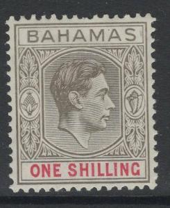 BAHAMAS SG155c 1944 1/= GREY-BLACK & BRIGHT CRIMSON MTD MINT SHORT PERF