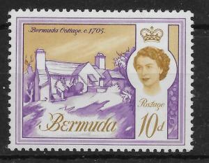BERMUDA SG197 1966 10d VIOLET & OCHRE MNH